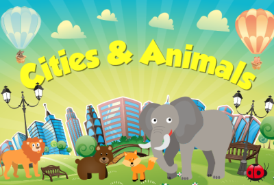Cities & Animals. For Kids